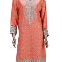 75f8648012b Junaid Jamshed Peach Cotton Stitched-Fit