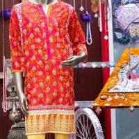ae6e3bd2194 Junaid Jamshed Pink Cotton Kurti